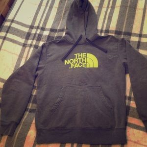 North face heavy weight thick hoodie lime green